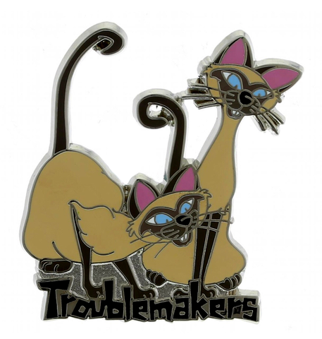 Si and Am Troublemakers Disney Pin