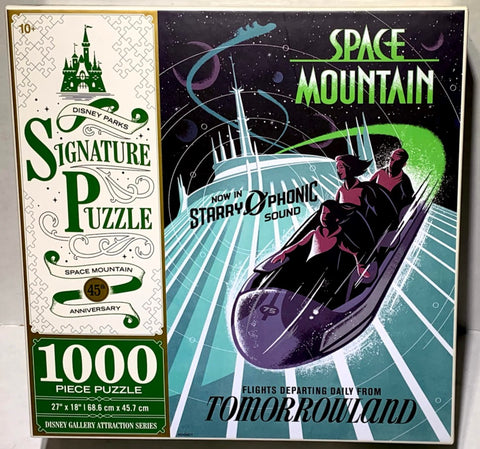 Space Mountain 45th Anniversary Attraction Poster Disney Parks Signature Puzzle