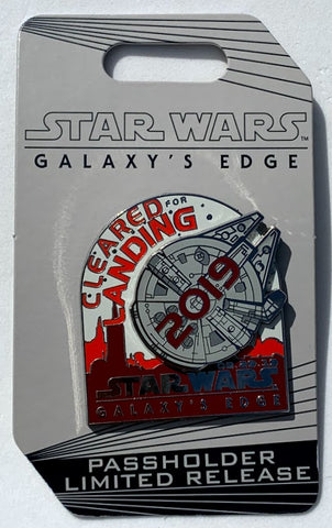 Star Wars Galaxy's Edge Cleared For Landing Opening Day Passholder Disney Pin
