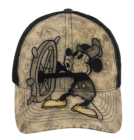 Steamboat Willie Mickey Mouse Disney Baseball Cap