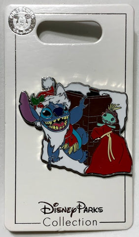 Santa Stitch and Scrump Christmas Disney Pin