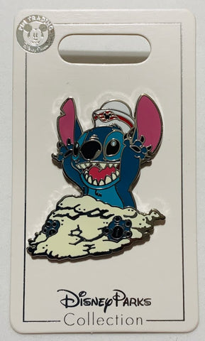 Stitch Playing In Sand Disney Cruise Line Disney Pin