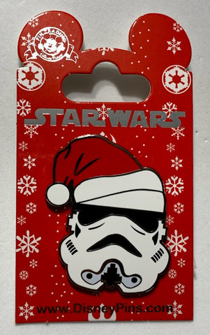 Santa Hat Stormtrooper Star Wars Christmas Disney Pin