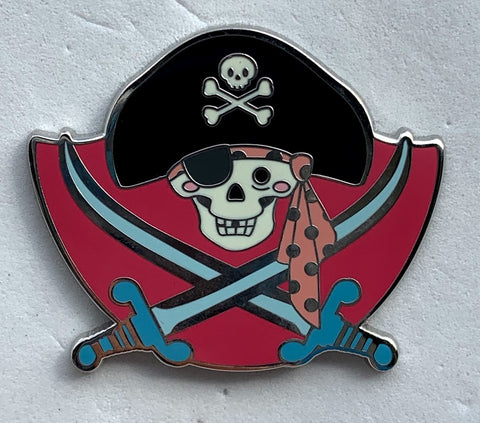 Talking Jolly Roger Pirates of the Caribbean Kingdom of Cute Series 2 Mystery Disney Pin