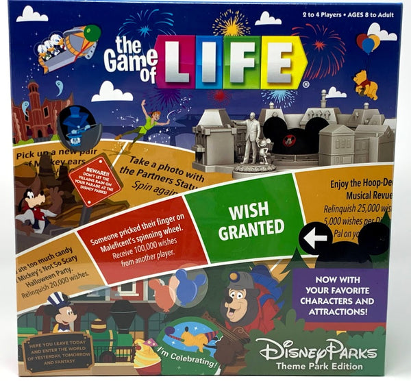 The Game of Life Disney Theme Parks Edition Board Game
