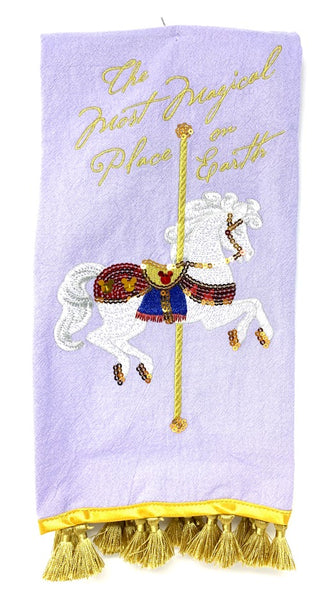 The Most Magical Place on Earth Carousel Disney Kitchen Towel