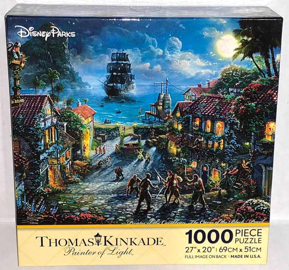 Pirates of the Caribbean The Curse of the Black Pearl Thomas Kinkade 1,000 Piece Disney Puzzle