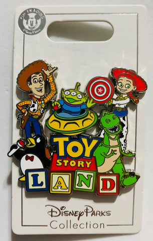 Toy Story Land Logo Disney Pin