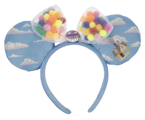 Up Balloon House Minnie Mouse Ears Headband with Bow