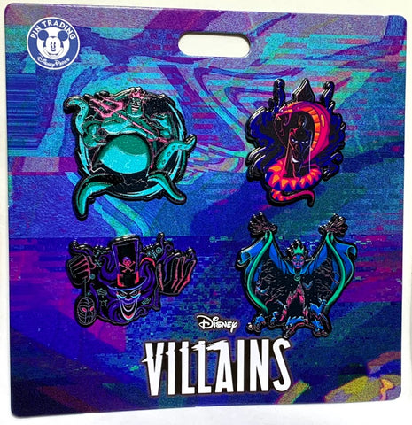 Ursula Jafar Shadowman and Evil Queen Villains Booster Disney Pin Set