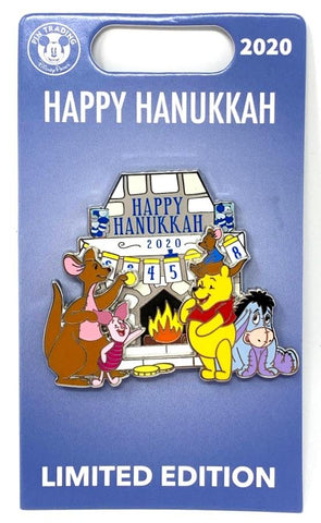 Winnie the Pooh and Friends Happy Hanukkah 2020 Disney Pin