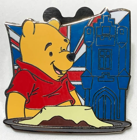 Winnie the Pooh United Kingdom 2019 Epcot Food and Wine Festival Mystery Disney Pin