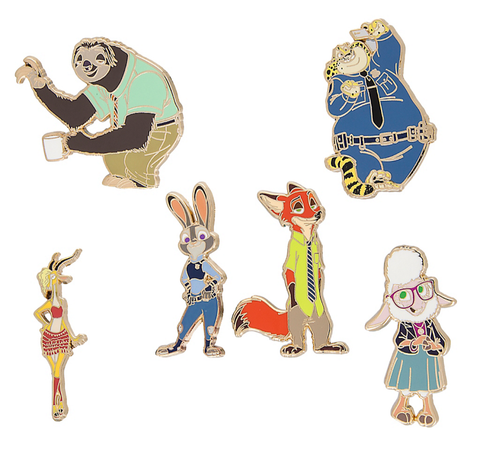 Zootopia Characters Disney Pin Set