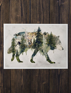 Walking with Wolves - Archival Prints