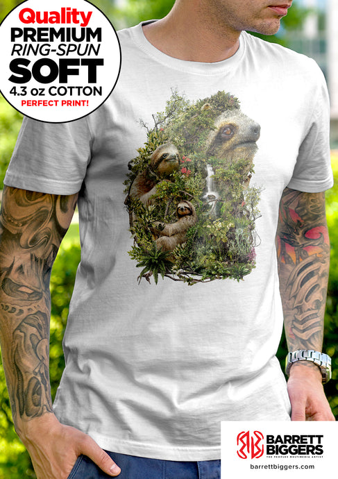 Surreal Sloth Unisex and Ladies T-Shirt