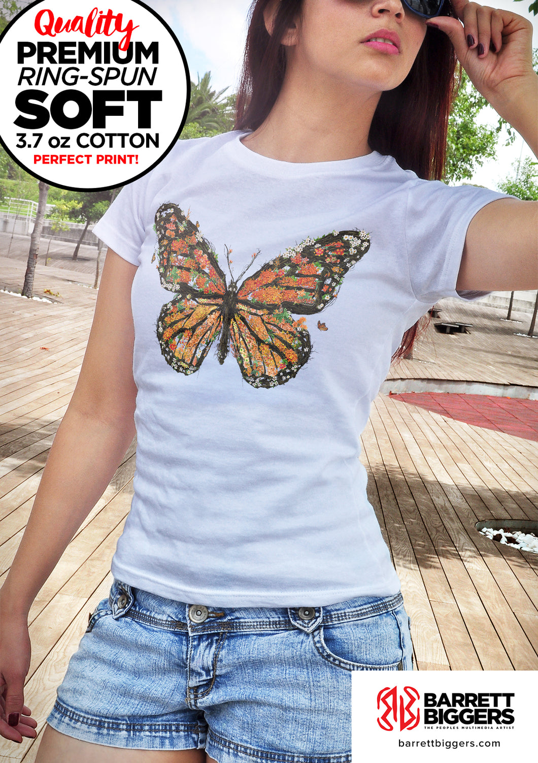 Monarch Butterfly Unisex and Ladies T-Shirt