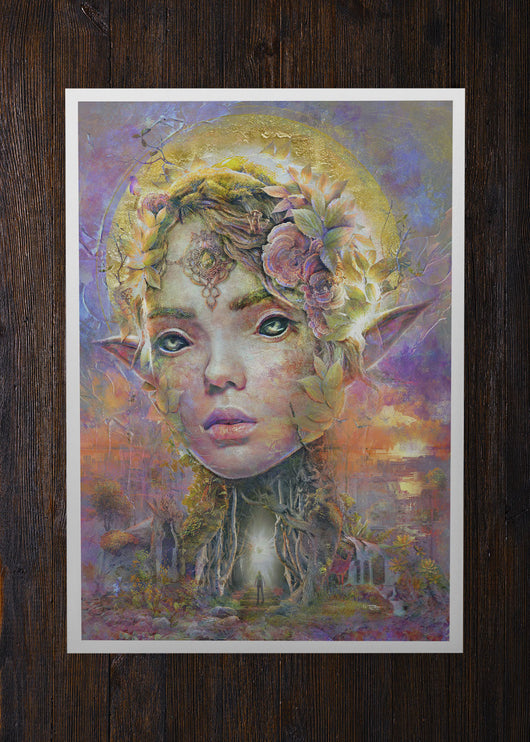 Sunset Dryad Elf Concept Art - Archival Prints