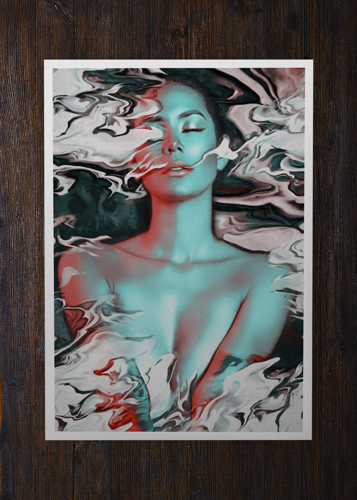 Smoking Lady Flow Abstract Art - Archival Prints