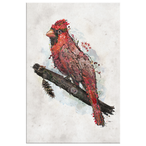 Northern Cardinal Wrap Canvas - Barrett Biggers Artist