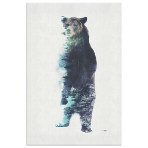 Misty Bear Wrap Canvas - Barrett Biggers Artist