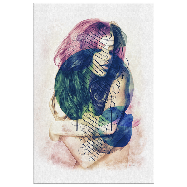 Painterly Woman Wrap Canvas
