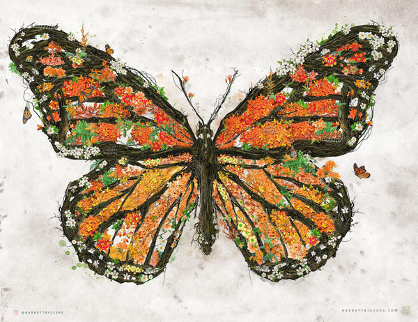 The Monarch Butterfly - Archival Prints and Canvas Options - Barrett Biggers Artist