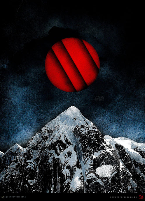 Red Peak Dark Surreal Landscape - Archival Prints and Canvas