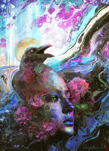 Raven Memories Abstract Liquid Art - Archival Prints and Canvas
