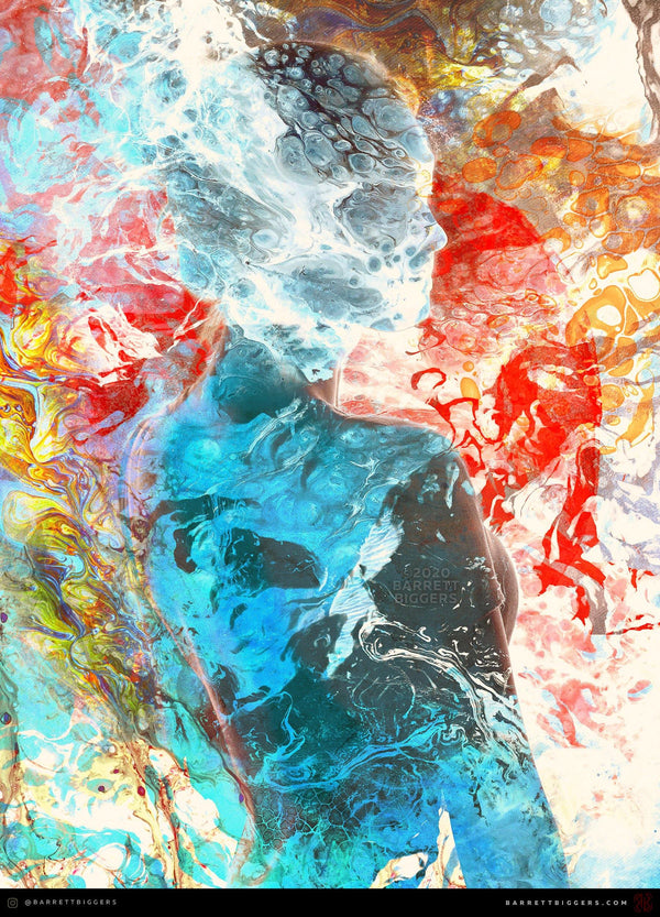 Lucid Liquidity Surreal Abstract - Archival Prints and Canvas