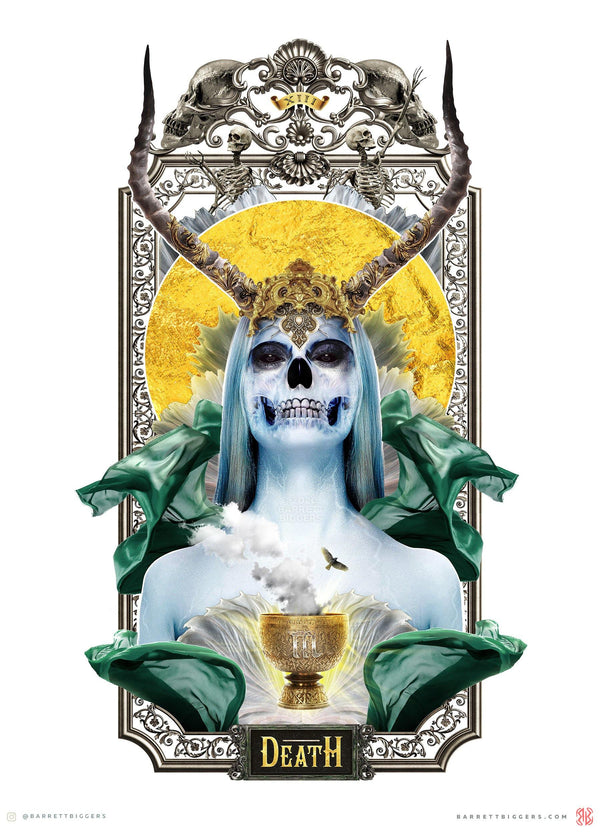 Death XIII Tarot Card - Archival Prints and Canvas