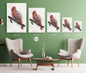 Northern Cardinal Wrap Canvas