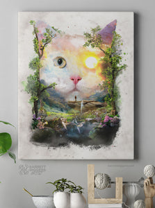Day Cat Wrap Canvas