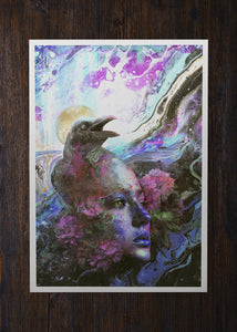 Raven Memories Abstract Liquid Art - Archival Prints