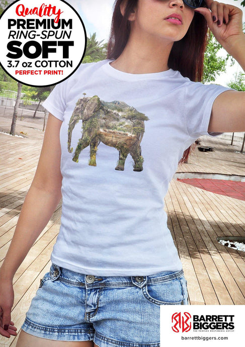 Elephant Unisex Fit and Ladies Slim Fit T Shirts