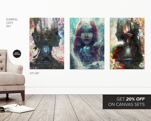 Dark Fairytales 3 Canvas Set - Save 20%