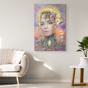 Sunset Dryad Wrap Canvas - Barrett Biggers Artist