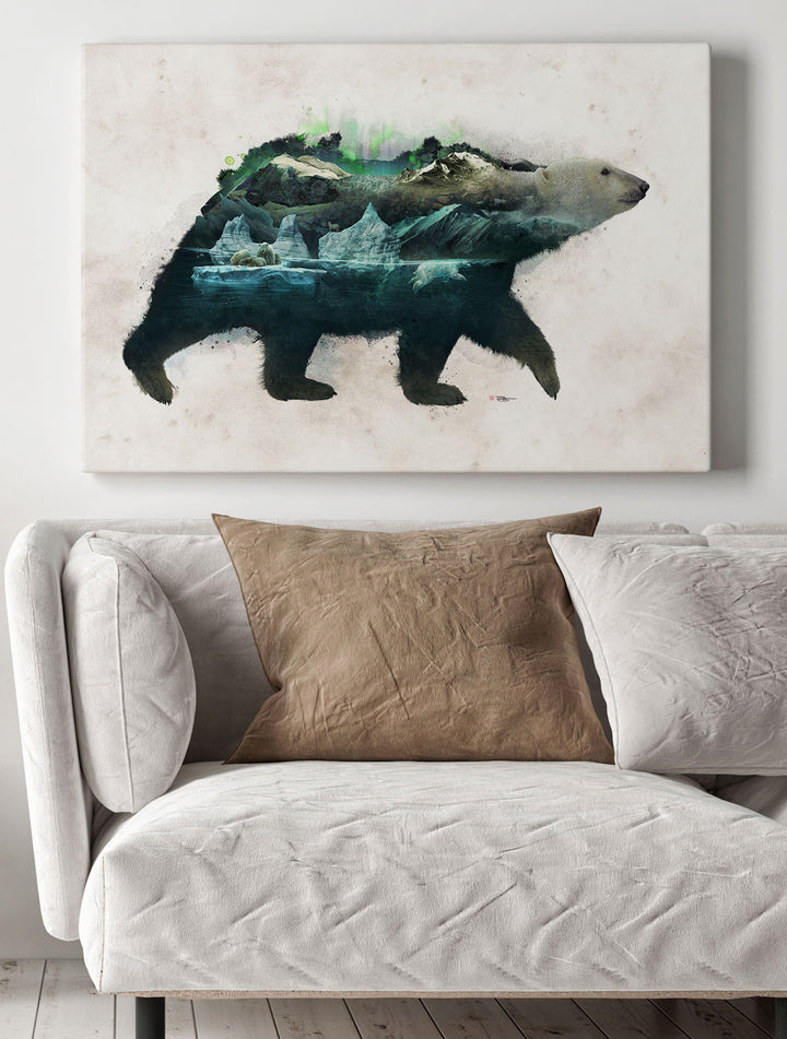 Polar Bear Wrap Canvas