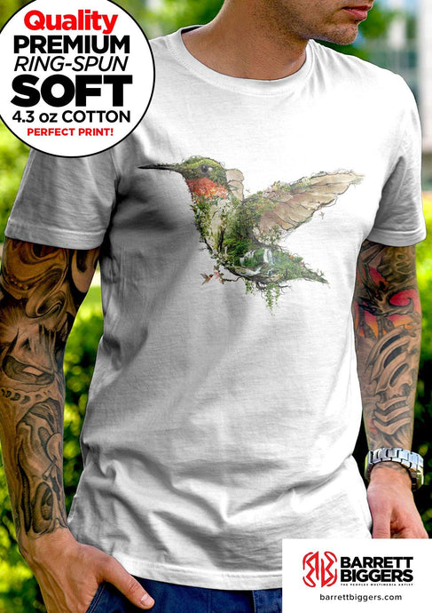 Hummingbird Unisex Fit and Ladies Slim Fit T Shirts