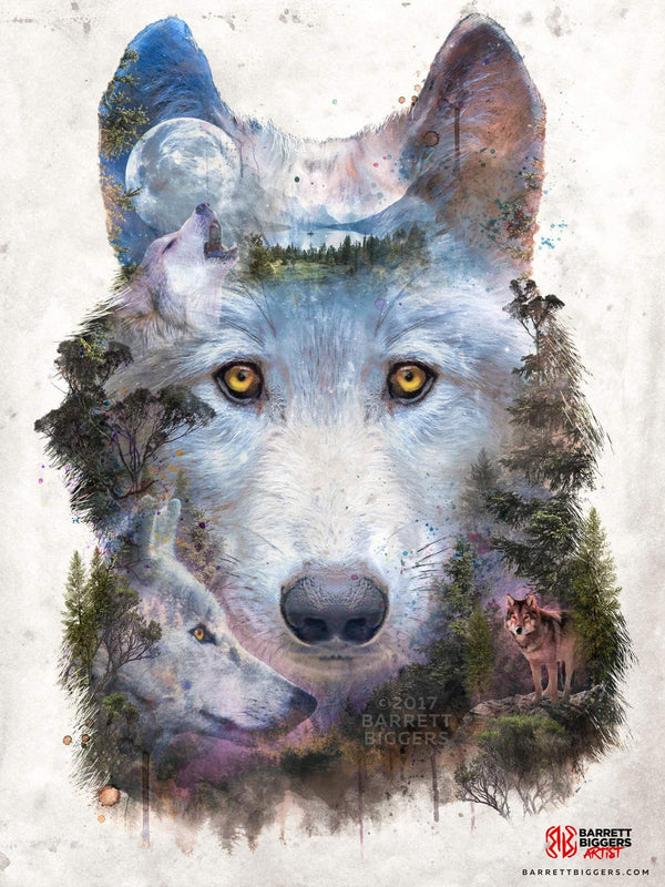 Wolf Moon Pack - Archival Prints and Canvas Options