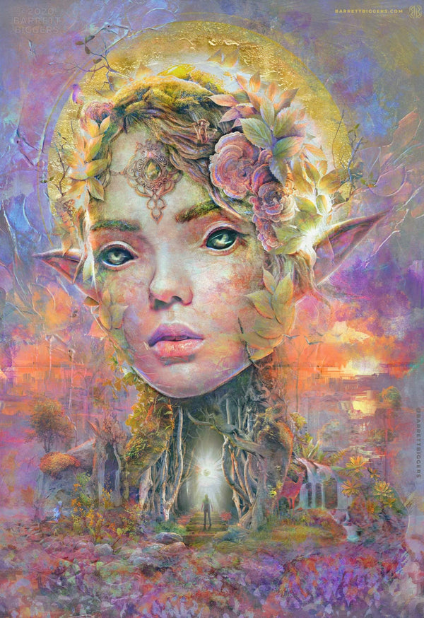 Sunset Dryad Elf Concept Art - Archival Prints and Canvas - Barrett Biggers Artist