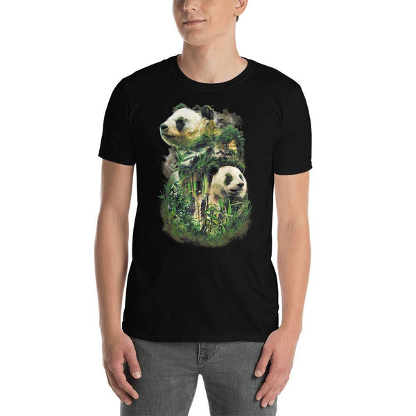 Panda Short-Sleeve Unisex T-Shirt