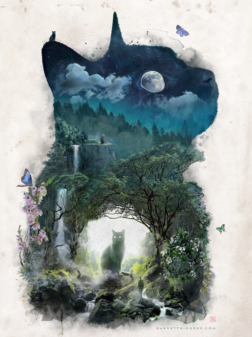 The Realm of Cats - Archival Prints and Canvas Options