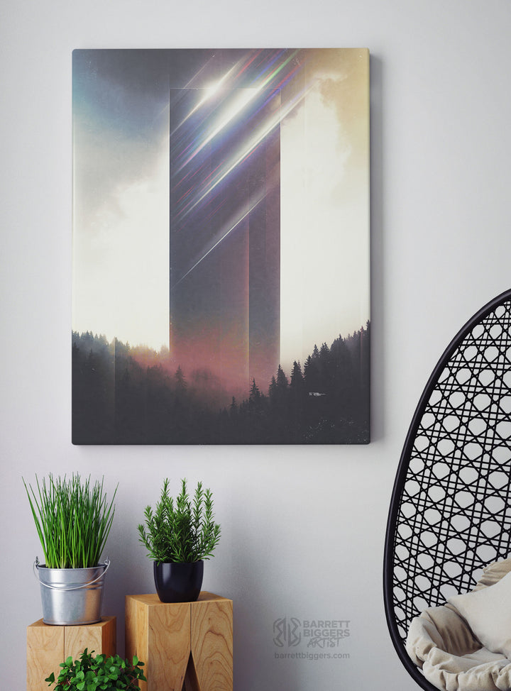 Tower of Refraction Wrap Canvas