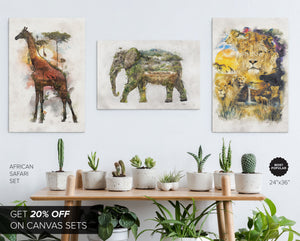 Safari 3 Canvas Set - Save 20%
