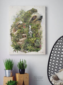 Sloth Wrap Canvas - Barrett Biggers Artist