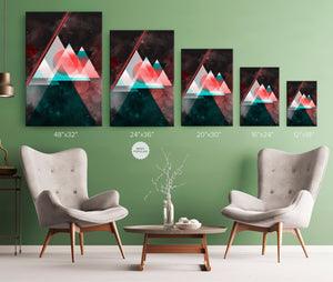 Space Triangles Wrap Canvas