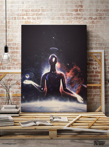 God of Matter Wrap Canvas - Barrett Biggers Artist