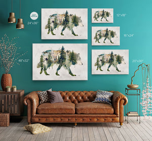 Walk with Wolves Wrap Canvas