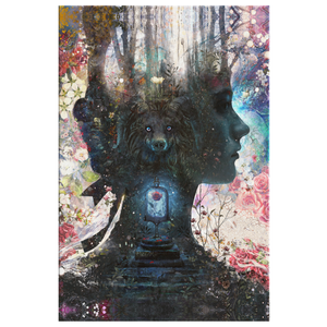 Dark Beauty and Beast Canvas Wrap - Barrett Biggers Artist