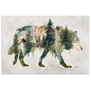 Walk with Wolves Wrap Canvas - Barrett Biggers Artist
